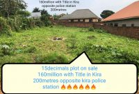 15 decimals plot of land for sale in Kira at 160m